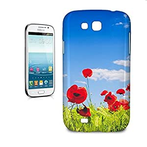 Phone Case For Samsung Galaxy Grand GT-I9128 - Red Poppies Field Snap-On Slim