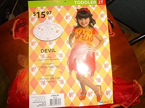 Tiny Delights Devil Costume. Dress with Tail 2T
