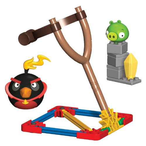 K'NEX Angry Birds Fire Bomb Bird versus Small Pig Building - Angry Toys Space Birds