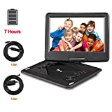 DR.Q 12.1 Inch Portable DVD Player with 6000mAh Rechargeable Battery, 270 Degree HD