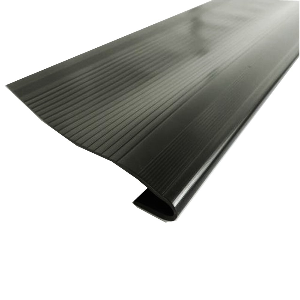 Resilia - Indoor Vinyl Stair Treads for Square Steps, Black, 24 Inches Wide x 9 Inches Long (Case of 18) by Resilia