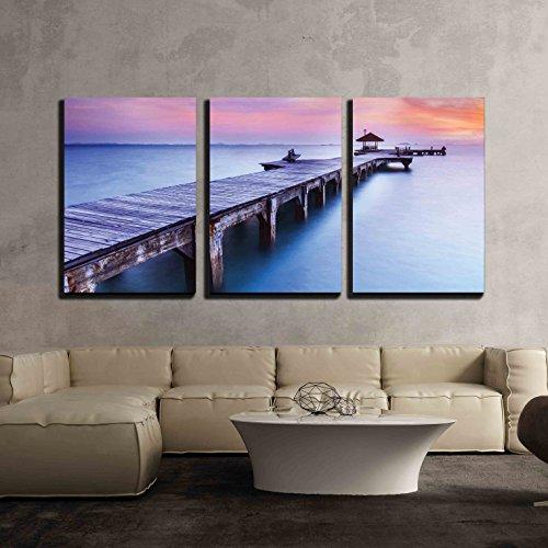 Beautiful Inspiring Calmness at Sunrise x3 Panels