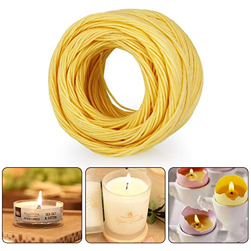 TANCUDER Organic Hemp Wick 200ft Natural Beeswax Coating with Long Lasting and Slow Burn for DIY Tea Lights, Candle Making, Tapers Standard Dispenser Use(1.0mm, Yellow) by TANCUDER (Image #4)