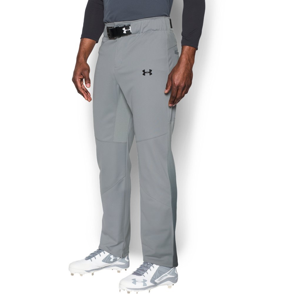 Under Armour Men's Lead Off Vented Baseball Pants, Baseball Gray/Black, X-Large by Under Armour