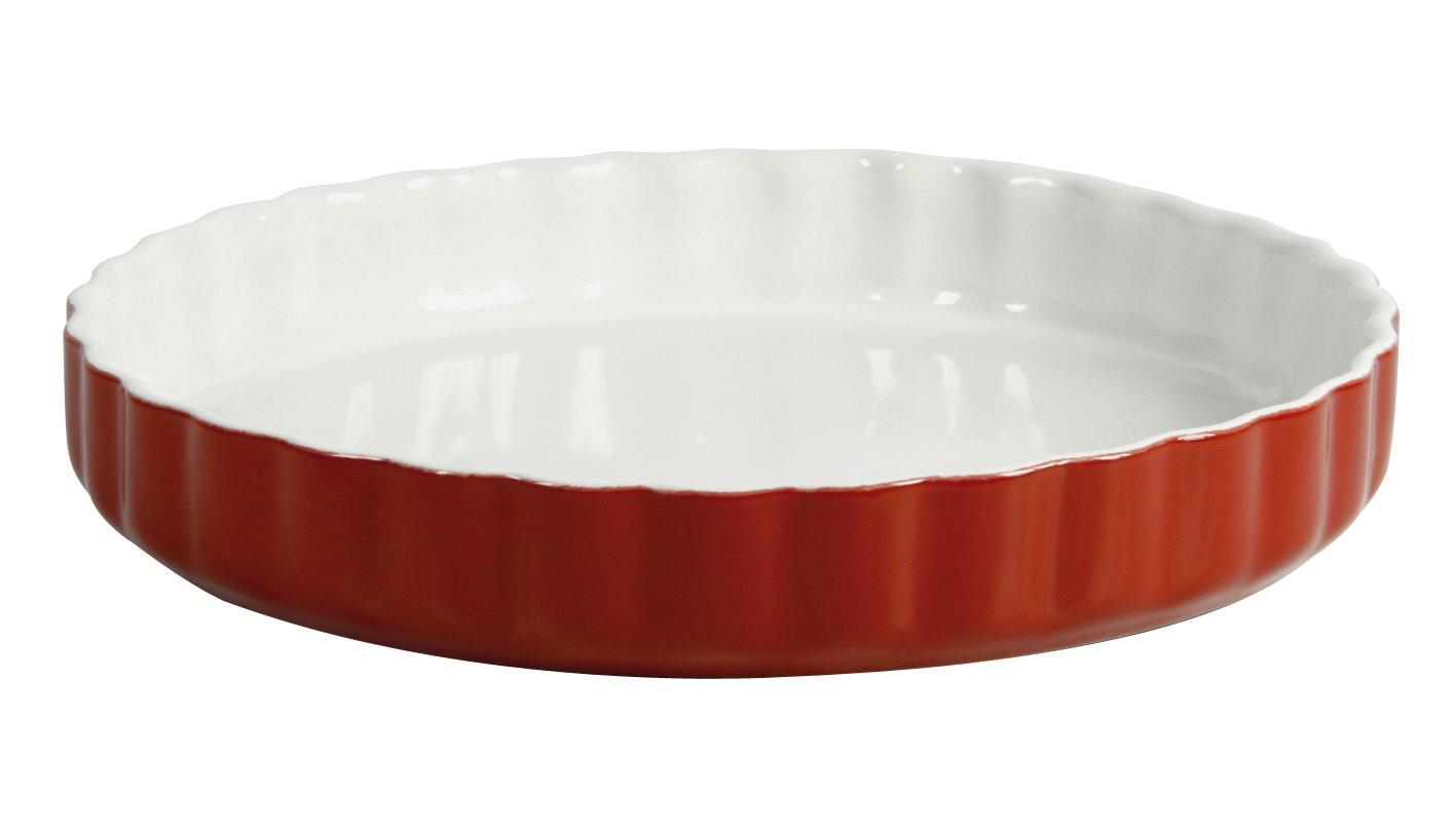 Crealys 512735 Ceramic Tart Dish 28 cm - Raspberry