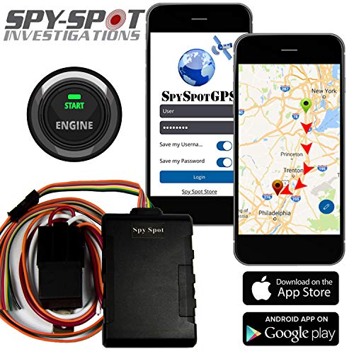 4G Hard Wire Kill Switch GPS Vehicle Tracker | Disable Any Vehicle Ignition - Remote Starter | Advance Satellite Real Time Fleet Tracking / Teen Driver Monitoring Alerts by Spy Spot