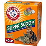 Arm & Hammer Super Scoop Clumping Litter, 26.3-Pound, Fragrance Free
