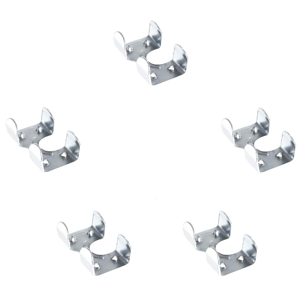 Multiple Pack Sizes Available Heavy Duty Zinc Plated Double Rope Clamps Fits 3//8-inch 1//2-inch 5//8-inch and 1//4-inch Ropes Cords
