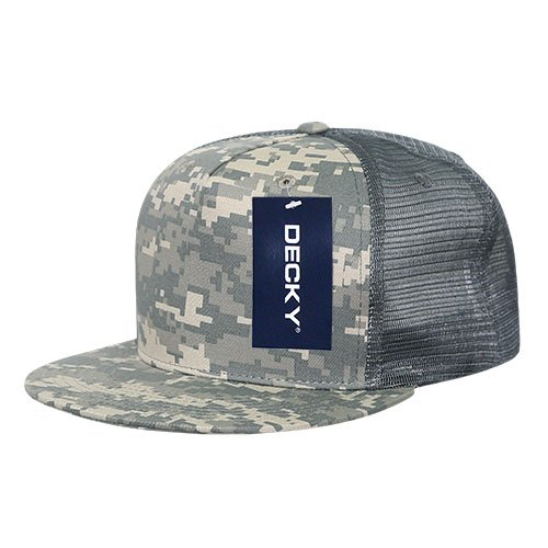 DECKY 1040-ACU Classic 5 Panel Cot. Trucker Caps, Army Combat - Panel Cot