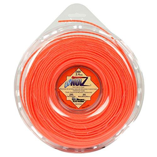 LoNoiz LN095DLG-12 Commercial Grade .095- by 285-Foot Spool of Spiral Twist Quiet 1-Pound Grass Trimmer Line, Orange