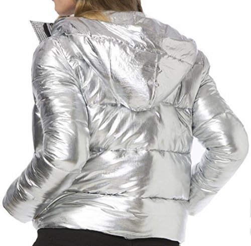 today Jacket Lightweight Solid Women's Coat Down Silvery Hooded UK Puffer rwSArq
