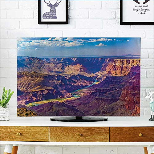 (L-QN Protect Your TV Aerial of Epic Grand Cany Activity of River Stream Over Rock Plateau Protect Your TV W20 x H40 INCH/TV 40