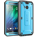 HTC One M8 Case, SUPCASE [Heavy Duty] HTC One M8 Case 2014 Release [Unicorn Beetle PRO Series] Full-body Rugged Hybrid Protective Case with Built-in Screen Protector (Blue/Black), Dual Layer Design + Impact Resistant Bumper