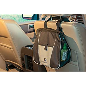 Busy Life Car Trash Bag - Keep Car Litter Out of Sight with Our Hanging Car Trash Can - Leak Proof Design and Easy Wipe Liner - Designed for Busy Moms and Commuters