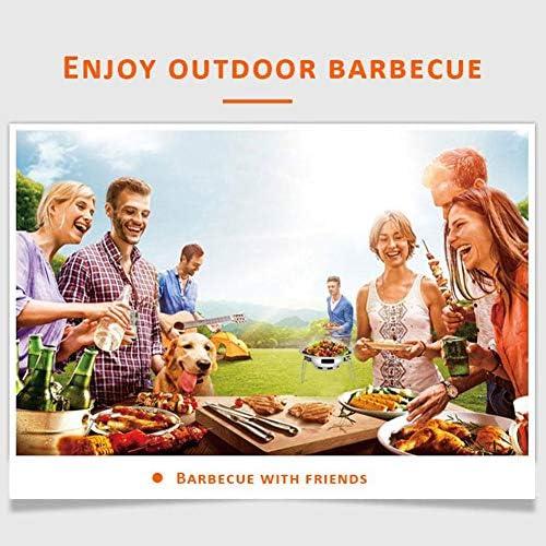 HFM Barbecue Grill, Barbecue Portable Pliable de qualité Barbecue, Barbecue au Charbon de Bois pour Camping en Plein air Cuisine Pique-niques Randonnée Party (3-5 Personnes)