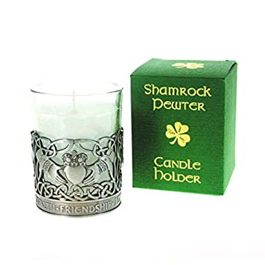 Pewter Candle Holder-Claddagh