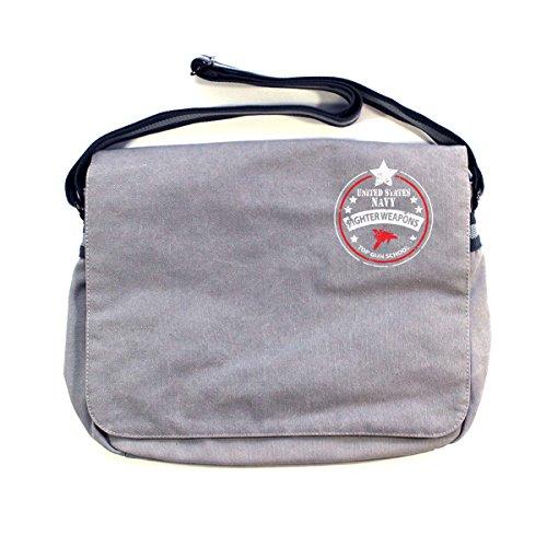 Vintage Bolso de hombre Store Light al para Arcane hombro Grey Algodón aHOx6Zqww8