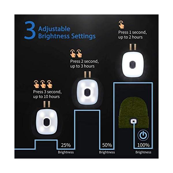 51fZObHV7ZL ATNKE LED beleuchtete Bluetooth-Beanie-Kappe, wiederaufladbare USB-Musikalische Laufmütze mit extrem hellem 4-LED-Licht…