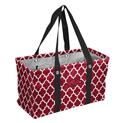 Logo Brands Collegiate Large Collapsible Picnic Tote Arkansas Razorbacks, Cardinal, One Size ()