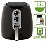 5.2L XL Air Fryer with Cooking Divider, Rack & Recipe Book. Deluxe 60 Minute Timer. Perfect Sized Family Air Fryer.