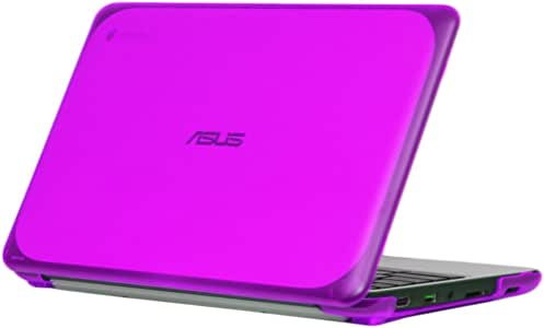 """iPearl mCover Hard Shell Case for 11.6"""" ASUS Chromebook C202SA series laptop (Purple)"""