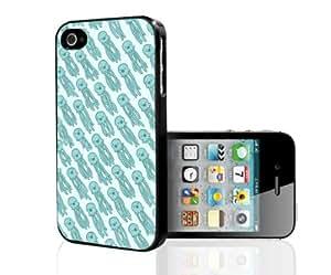 Light Blue Squid Pattern Hard Snap on Phone Case (iPhone 5/5s)