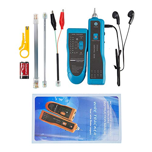 Cable Tester, Wire Tracker RJ45 RJ11 Network Telephone LAN Line Finder Cat5 Cat6 jiguoor