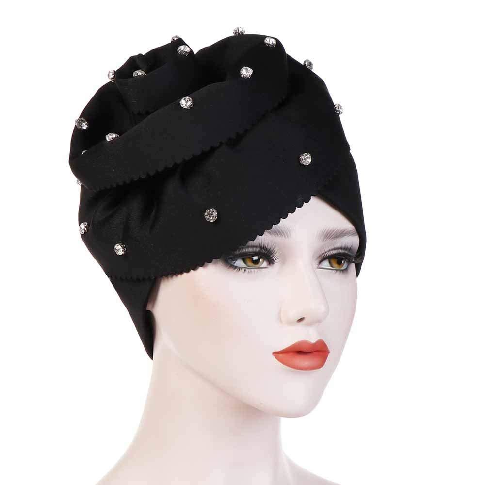 2019 Hats Deals Women Muslim Stretch Turban Hat Chemo Cap Hair Loss Head Scarf Wrap Cap