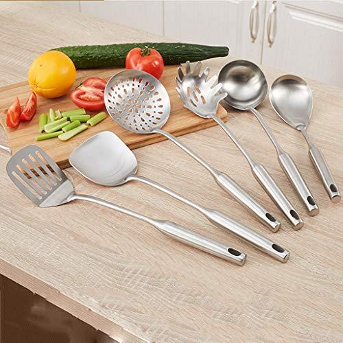 CFXZM Kitchen Shelf, Cooking Utensils Storage Rack 304 Stainless Steel Shovel Soup Spoon Colander 7-Piece Set by CFXZM (Image #6)