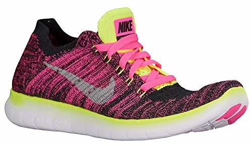 Course Flyknit de Blast RN Pink Rosa Chaussures GS Silver Femme Free volt Nike black Metallic qBY1wF1