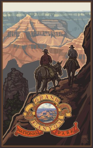 Northwest Art Mall Grand Canyon National Park Mule Riders Wall Art by Paul A. Lanquist, 11 by - Canyon Mall