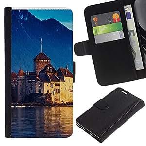 Ihec-Tech / Flip PU Cuero Cover Case para Apple Iphone 6 PLUS 5.5 - Lake Geneva Switzerland