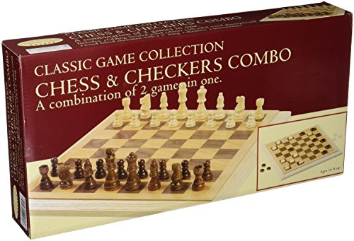 Chess Wood Board Deluxe - John N. Hansen Deluxe Staunton Wood Chess And Checkers Set