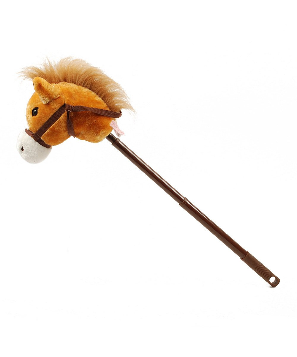 Linzy Hobby Horse, Galloping Sounds with Adjustable Telescopic Stick, Brown 36'' by Linzy Plush