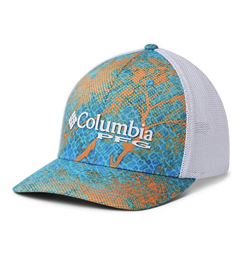 - Columbia Unisex PFG Camo Mesh Ball Cap, Riptide Realtree Mako, Large/X-Large