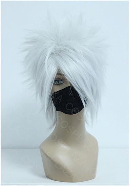 COSPLAZA Hatake Kakashi plata blanco Anime Cosplay peluca pelo ...