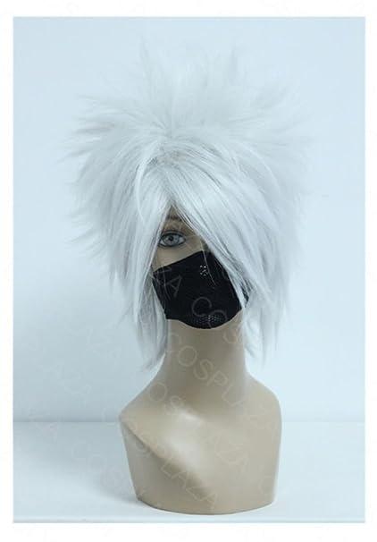 COSPLAZA Hatake Kakashi plata blanco Anime Cosplay peluca pelo sintético