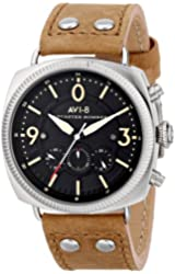 AVI-8 Men's AV-4022-02 Lancaster Bomber Stainless Steel Watch with Tan Leather Band
