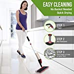 Generic Flat Spray Mop, 2 in 1, Liquid Dispenser and Movable Handle, High Absorbent Microfiber, for Wet and Dry Surface…