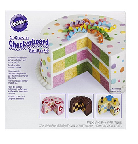 Wilton Round Checkerboard Cake Pan Set, 4-Piece