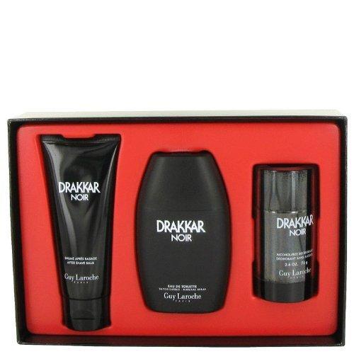 Drakkar Noir By Guy Laroche Gift Set -- 3.4 Oz Eau De Toilette Spray + 3.4 Oz After Shave Balm + 2.5 Oz Deodorant Stick Men by Guy Laroche