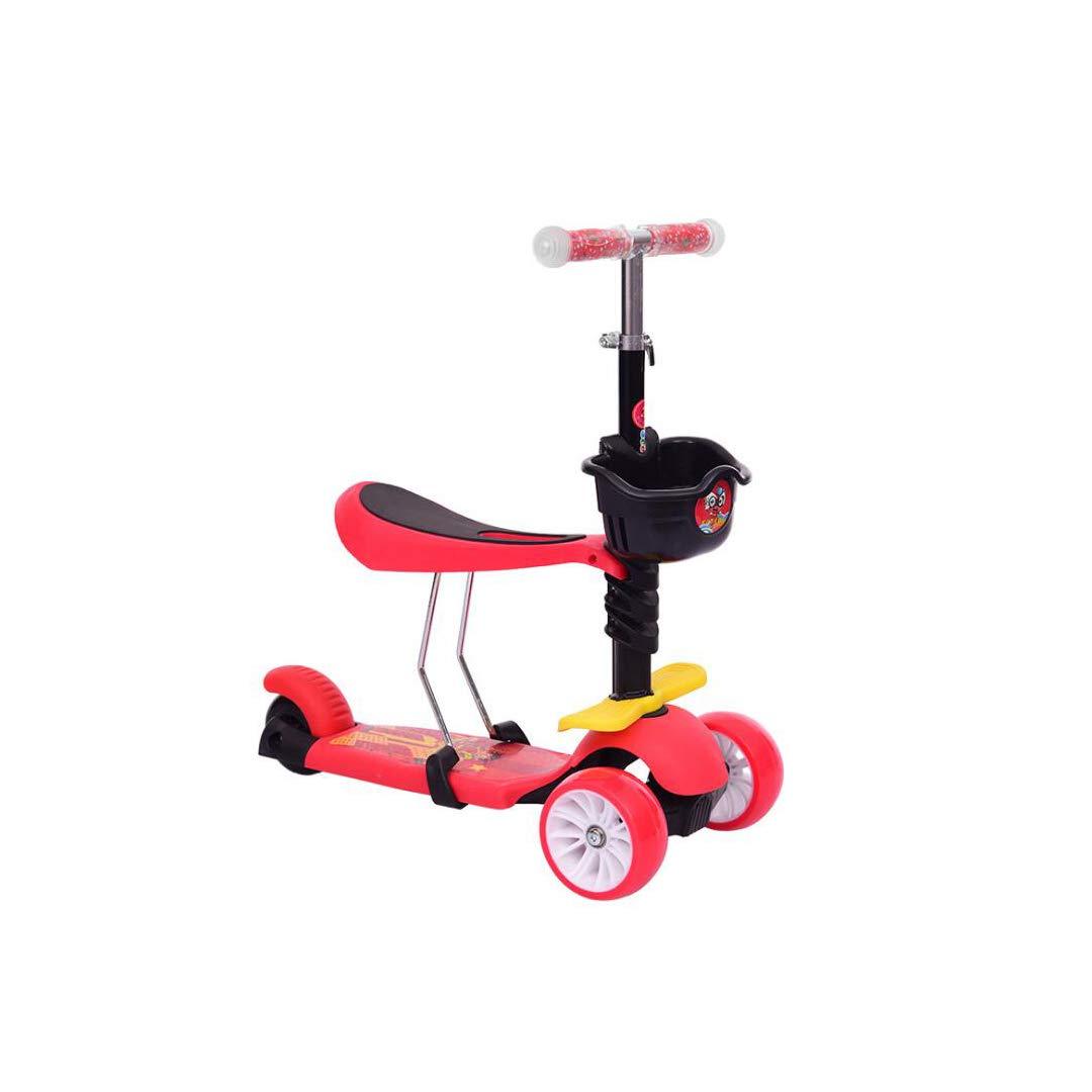 【超歓迎】 TLMYDD B07NMG2VQF 多機能子供のスクータースリーインワン拡大輪熱伝達スクータースクーター、60 x 28 28 x 80 cm 子供スクーター x (色 : Pink) B07NMG2VQF Red Red, エルグスト:2e6d1ea4 --- a0267596.xsph.ru