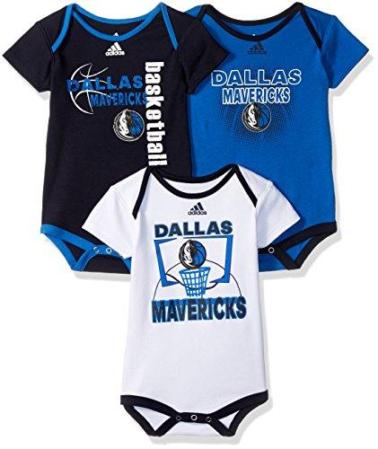 NBA Infant Dallas Mavericks 3 Point Bodysuit Set-Dark Navy-18 - Maverick Suits