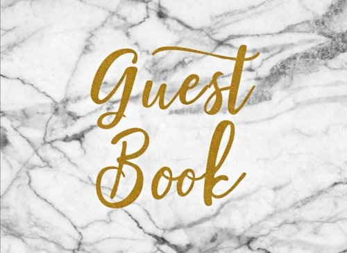 Download Guest Book: White Marble Chic Guest Book for Wedding Bridal Baby Shower Birthday Graduation Parties Memorials Sign InJournal for Visitors Blank Lined Pages (8.25 x 6) Softback Cover pdf epub