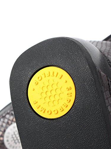 Fitflop FitFlopTM BandaTM Micro-crystal piel chanclas en negro Negro