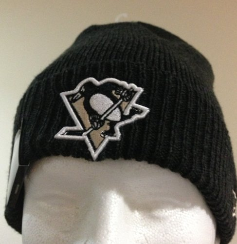 100% Authentic NHL Pittsburgh Penguins Thermal Cuff Charcoal Color Newera Sport Knit Beanie New with Tag (Era New Beanie Penguins)