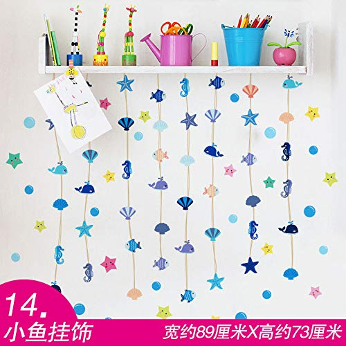Fish Hanging Surface - fefre Cartoon Baby Child Bed Room Bedroom Wall Tops Jewelry 3D Wall Surface, Small Fish Hanging Ornaments Wall Sticker