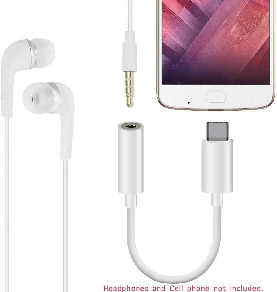 Samsung S10 S9 Plus Note 10 USB Type C to 3.5mm Adapter Compatible with Pixel 4 3 2 XL iPad Pro,Mate 30 20 Pro and More 2 Pack USB C to 3.5mm Headphone Jack Adapter