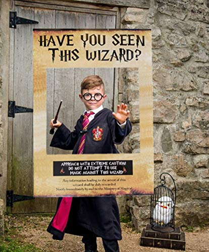 The Daily Sign This Is Halloween (LaVenty Have You Seen This Wizard Photo Booth Prop Wizard Inspired Photo Booth Frame Wizard Birthday Party Photo Booth Props for Wizard Theme Party)