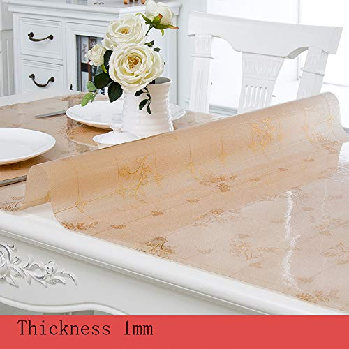 WISHE HOMESTT Mantel PVC Transparente Mesa Rectangular ...